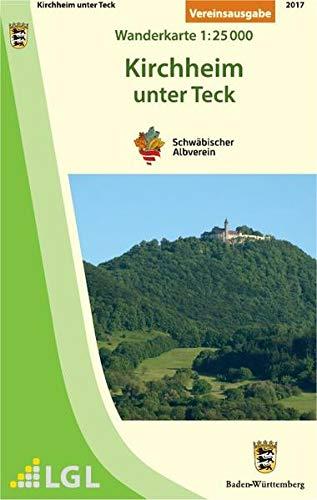 Kirchheim unter Teck: Wanderkarte 1:25.000 (Karte des Schwäbischen Albvereins)