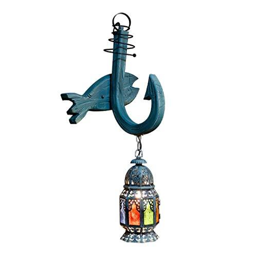 OMYLFQ Lámpara de Pared Lámpara de Pared Retro de Estilo mediterráneo Sala de Estar Creativa Dormitorio Bar Cafe Lámpara de Pared