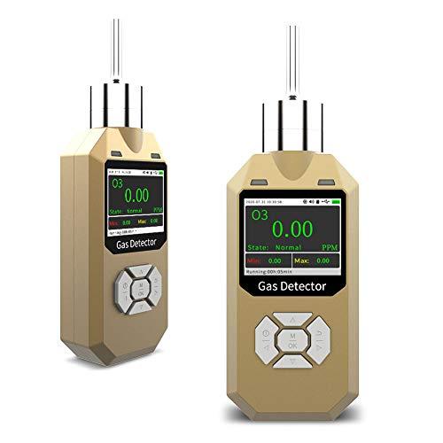 Detector de ozono | Detector de gas O3 portátil tipo bomba | Caja de aluminio resistente | A prueba de agua, polvo y explosión | Batería recargable USB | Alarmas ajustables | 0-20 ppm