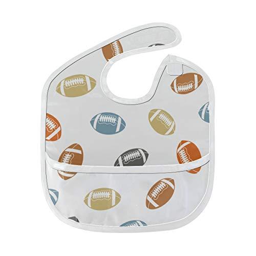 N\A Bavoir d'alimentation Garçon Colorfulfashion Cartoon American Rugby Bibs Baby Soft Stain Baby Feeding Dribble Drool Bibs Burp For Infant 6-24 mois