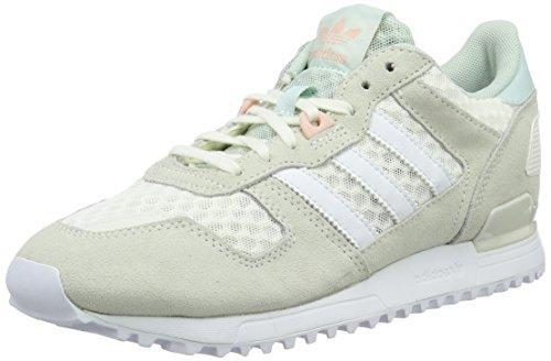 Adidas Zx 700, Women Training Running, Beige (Off White/Ftwr White/Vapour Green), 4 UK (36 2/3 EU)