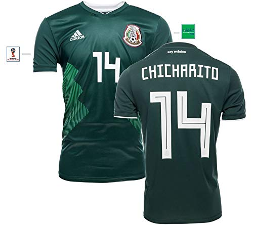 Mexiko Trikot Herren WM 2018 Home - Chicharito 14 (XXL)
