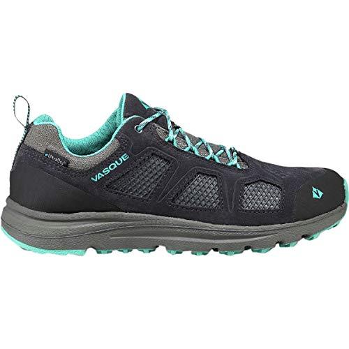 Vasque Women's Mesa Trek Low UltraDry Waterproof Hiking Shoe, Ebony/Baltic, 10 M US