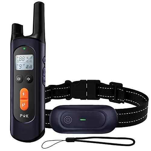 Puppy Kitty Collier de Dressage pour Chien avec Fonction de télécommande Rechargeable 3 Modes de Dressage, IPX7 étanche, portée de la télécommande de 600 mètres, Niveau de Courant réglable (0-99).