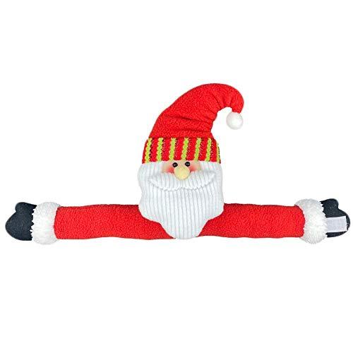 Xiongz Alzapaños de cortina de Navidad con hebilla para cortina, clips de cortina de Papá Noel muñeco de nieve con hebilla para ventana, decoración del hogar, adornos (color rojo)