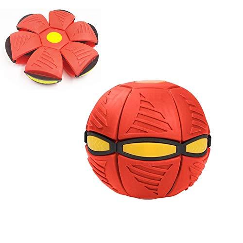 Bola mágica de deformación ovni, bola de platillo volador, bola voladora para niños, juguete de ventilación de bola de ventilación, para descompresión de juguete interactivo de padres e hijos (rojo)