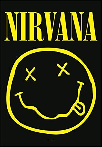 Heart Rock Original Nirvana Smiley-Flagge, Stoff, mehrfarbig, 110 x 75 x 0,1 cm