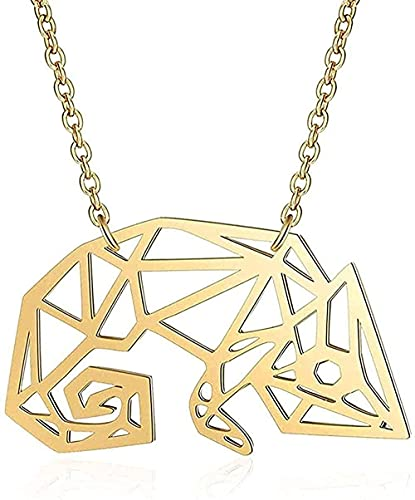 LBBYLFFF Collar de Moda Collar de Cammeleon Collar de Acero Inoxidable Individual Collares para Mujer Regalo Joyería de Moda