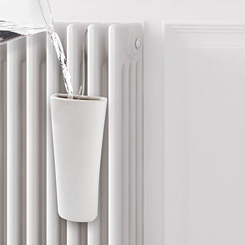 Rayen 0042.01 Umidificatore per radiatori, Ceramica, Bianco, 18.5 x 8.5 x 2.8cm, confezione da 2