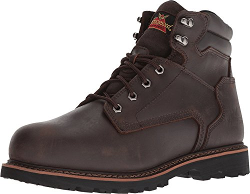 "Thorogood 804-4278 V-Series Men's 6"" Work Boot Safety Toe, Brown - 12 W US"