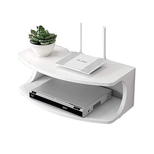 RZM Soporte de pared para consola de TV flotante para reproductores de DVD, cajas de cable, routers, mandos a distancia, consolas de juegos, estante de almacenamiento funcional