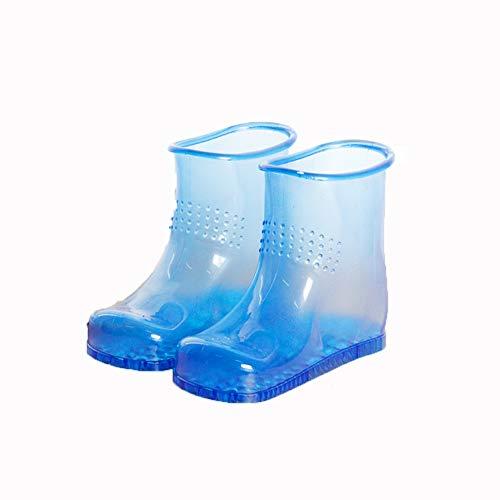 YH&YX Portable Fuß-Badeschuhe,fußreflexzonenmassage Fuß-Badeschuhe Fußbad Bad Praktische Aufbewahrung Schuhe Bad Fußwäscheschuhe-blau 29 * 23 * 12cm(11x9x5inch)