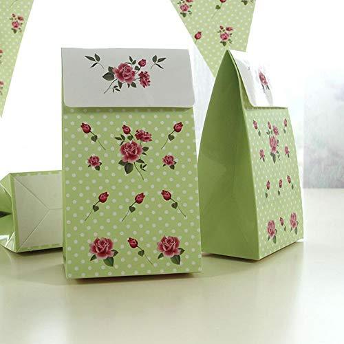 Funihut cadeauzakje, 6 stuks, roze, motief papier, geschenkverpakking, kleine candybox
