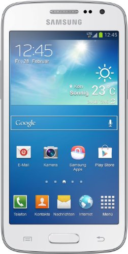 Samsung Galaxy Core LTE Smartphone (11,3 cm (4,5 Zoll) TFT-Touchscreen, Dual-Core, 1,2GHz, 5 Megapixel Kamera, WiFi, Android 4.2.2) weiß