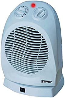 Zephir ZTRM7 - Calefactor (Calentador de ventilador, 24 h, Interior, Piso, Blanco, Giratorio)