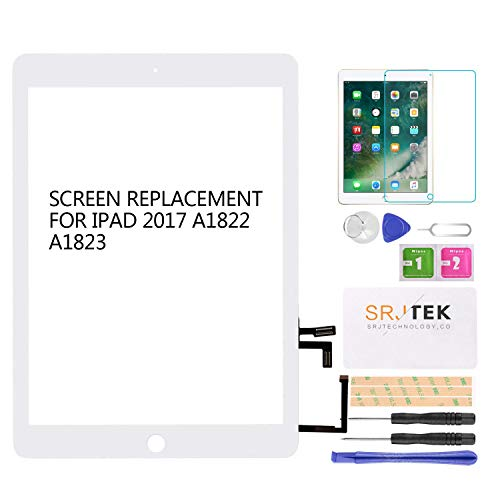 SRJTEK for IPad 2017 A1822 A1823 9.7 Touch Screen Front Panel...