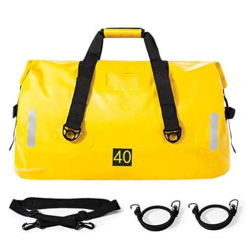Haitee - Bolsa de transporte impermeable para moto, 40 L/90 L, bolsa para sillín equipaje, gran capacidad, portaasiento trasero para moto, bolsa de viaje para moto, se adapta a diversos entornos.