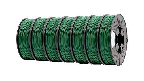 ICE FILAMENTS ICE7VALP161 PLA Filament 2,85 mm, 0,75 kg, Daring Darkgreen (Lot de 7)