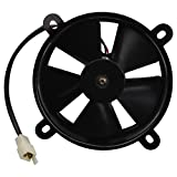 GOOFIT 12V DC Radiator Cooling Fan for 200cc 250cc Taotao Sunl Coolster Roketa Water-Cooled ATV Quad Go-Kart