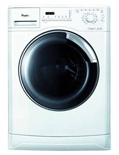 Whirlpool AWOD 8101/PRO Waschmaschine, Frontlader, freistehend, 8kg, 1200U/Min, Energie-Effizienzklasse A+++, Edelstahl, Türanschlag links, weiß, 55l, 20% Energieersparnis