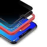 """BANNIO Pellicola Privacy per iPhone 11 Pro/iPhone XS/iPhone X,2 Pezzi Curva 3D Full Screen Vetro Temperato,Anti Spy Pellicola Protettiva Copertura Totale Protezione Schermo per iPhone 11 Pro/XS/X 5,8"""""""