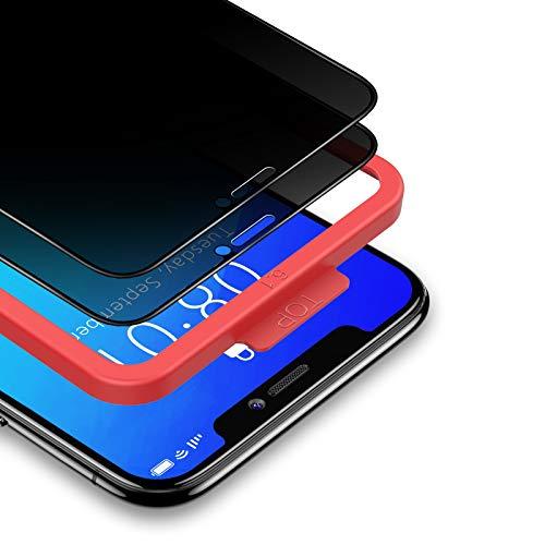 BANNIO für Panzerglas Sichtschutz für iPhone 11 Pro/iPhone XS/iPhone X,2 Stück 3D Full Screen Privacy Panzerglasfolie Schutzfolie,Glas Blickschutzfolie Anti-Spy Folie Displayschutzfolie Sichtschutz