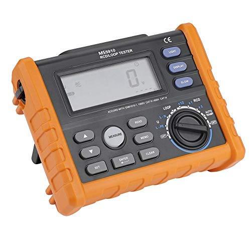 Akozon Medidor de resistencia digital RCD Tester Leakage Switch Tester Resistencia de lazo Voltaje de CA Frecuencia(PM5910)