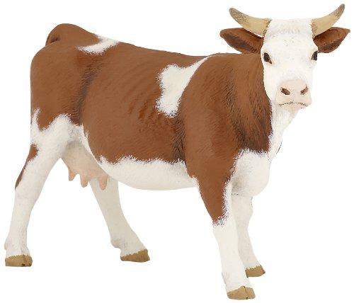 Papo- Figura Vaca simmental 13X4X8CM, Multicolor (2051133)