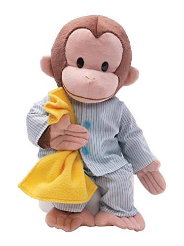 GUND Curious George Pajamas Monkey Stuffed Animal Plush, 16'