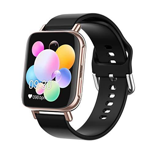 XXH Smart Watch, Pantalla Hiperboloides De Alta Definición M96, Llamada Bluetooth, Ritmo Cardíaco Y Monitor De Presión Arterial, Rastreador De Fitness, Brazalete Deportivo,B