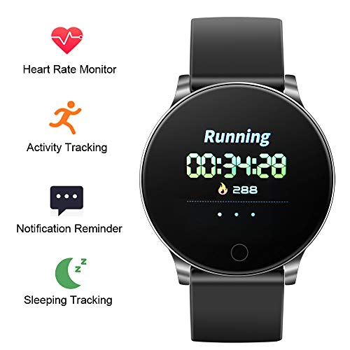 NEEKFOX Fitness Tracker, Activity Tracker with Heart Rate Monitor Sleep Tracking, Waterproof IP67 Smart Pedometer Watch with Step Calorie Counter, Running Sports Watch Bracelet for Children Women Men