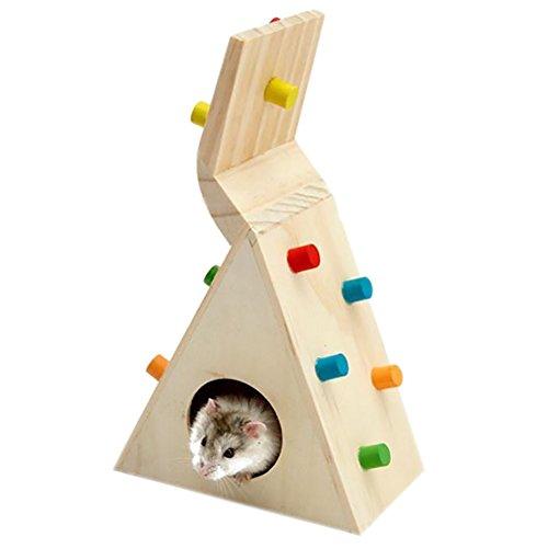 Chakil buntes Kletterleiter-Spielzeug für Hamster, Rennmaus, Ratte, Mäuse, Chinchillas, Meerschweinchen, Kleintiere, Hamster, Kauspielzeug, Käfigspielzeug