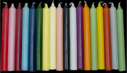 Velas de cena, color fucsia