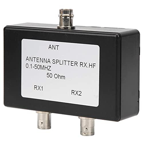 Divisor de Amplificador de Antena de TV de 2 VíAs RX HF1‑50 MHz Amplificador de SeñAl de Antena de Bajo Ruido Equipo de TV Satelital