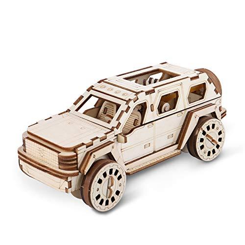 N+A Modelli Auto in Legno da Costruire, Costruzioni Legno Adulti, Puzzle in Legno 3D Fai da Te, Idea Regalo per Ragazzi Ragazze Uomini e Donne
