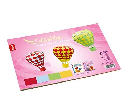 Lilleklip Konturgestanztes Faltpapier für 12 Ballons: 24 Blatt, 4 Farben, DIN A4, 80 g/m², konturgestanzt, 5 m Monofil 0,3 mm, inkl. Anleitung