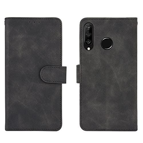 Teléfono Flip Funda Funda de billetera para Huawei P30 Lite / Nova4e, cartera de cuero PU con titular de la tarjeta de crédito Tapa protectora a prueba de golpes para Huawei P30 Lite / NOVA4E Tapa tra