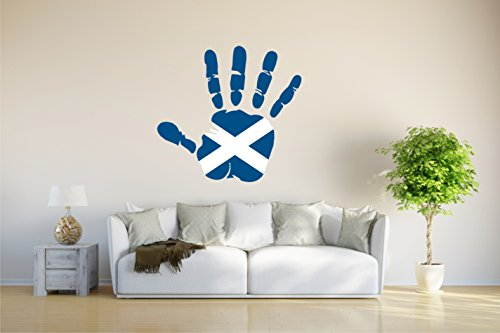 Wandtattoo - CH - Fahne in der Hand - Scotland - Schottland - 75x70 cm