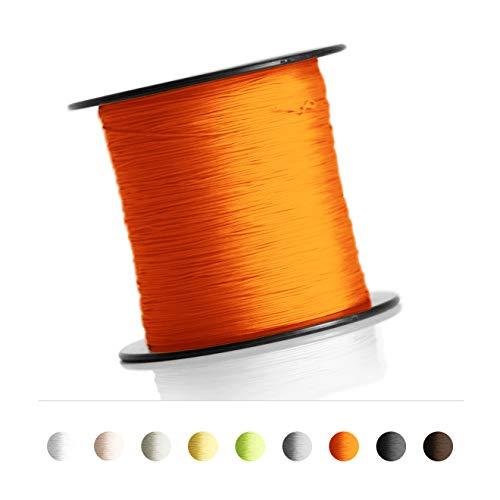 Schnur für Plissee, Rollo, Jalousette 0,8 mm Spannschnur Plisseeschnur zubehör (Orange, 30 Meter)