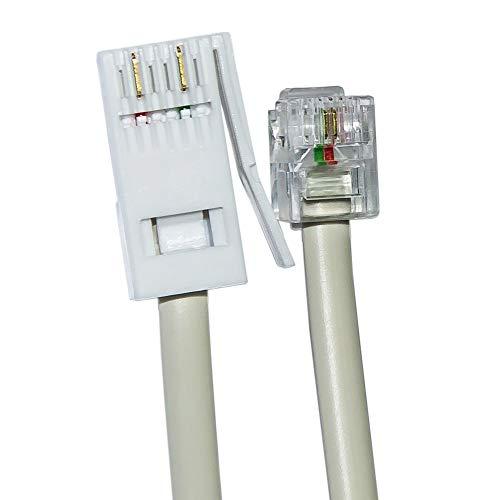 Ornin BT Plug to RJ11 telefoonkabel 3 Meters Kleur: wit