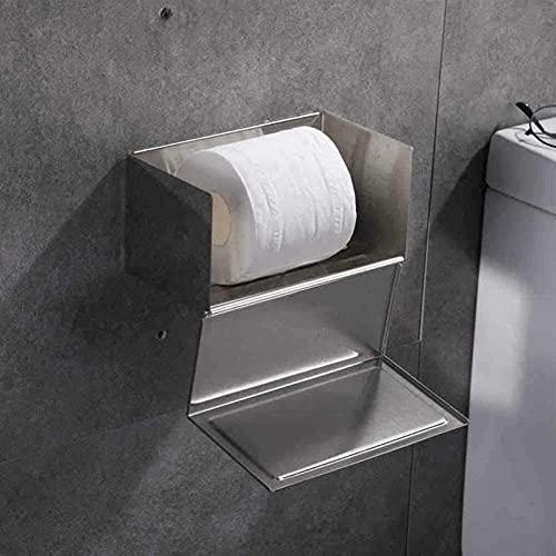 KMILE Caja de Tejido de Acero Inoxidable Cuarto de baño Espeso Impermeable