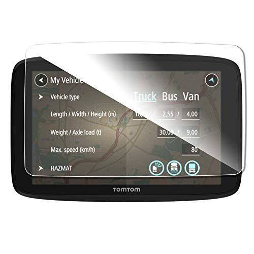 SHAOHAO Protector de pantalla para navegador GPS Tomtom GO 620, 6200 y 6250 de 6 pulgadas, transparente, resistente a los arañazos 9H antihuellas