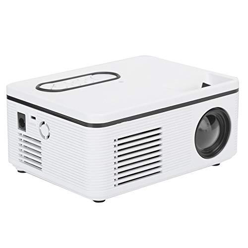 Dilwe1 Mini Proyector Doméstico,LED HD Proyector Portatil Movil para Fiestas,Exteriores,Cine en Casa,Canciones,1080P Retroproyector Portatil Universal Soporte Minitype,Mejor Regalo(EU)