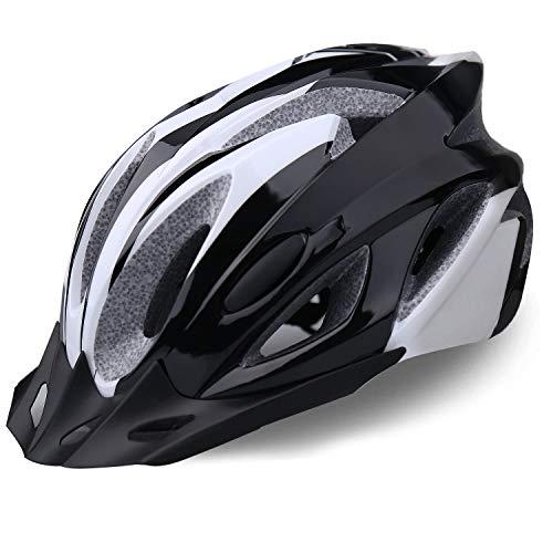 iWUNTONG Casco da Bici per Adulti, Casco da Ciclismo Certificato CPSC, specializzato per Uomo Donna con Visiera Staccabile, Casco da Bicicletta per Ciclismo su Strada con Dimensioni Regolabili