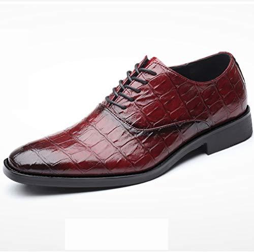 TAZAN Vestido Brock de Negocios para Hombres Zapatos Oxford Laca Abrigos de...