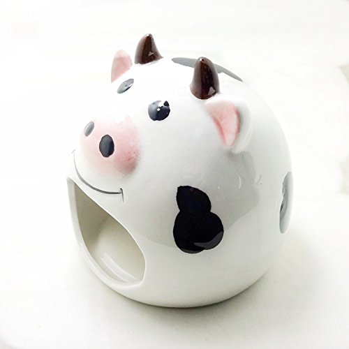 Small Animal Hideout Ceramic House Critter Bath House Cave Mini Hut Cage for Chinchilla Hamster (WHITE)