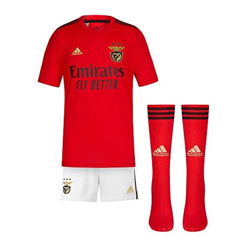 adidas Mini Kit 1º Equipación SL Benfica 2020-21, Unisex-Niños, Red/Black/Gold/White, 110