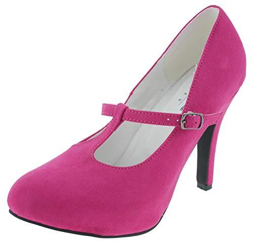 Andrea Conti 1414850 Plateau Spangenpumps pink, Groesse:38.0