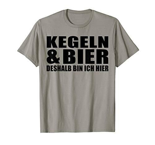 Herren Kegeln und Bier deshalb bin ich hier T-Shirt Geschenk T-Shirt