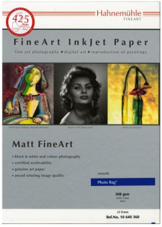 Hahnemühle 10641601 Digital Digital Digital FineArt Photo Rag Papier, 188 g m², DIN A3, 329 x 483 mm, weiß B003YFGDOA | Rabatt  057e3e